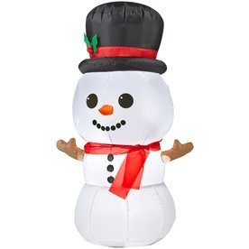 Holiday Living Inflatable Airblown Baby Snowman Outdoor Christmas Decoration with LED White Lights
