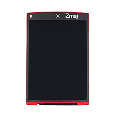 Zmsj 12 '' LCD Writing Tablet E-Writer ,Kids and Business Plan Pad E-Writer Handwriting Pads Portable Tablet Board (12inch, Red)