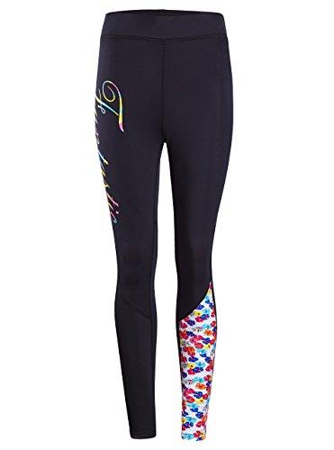 Rash Guard Pants Girls Full Long Ankle Swimming Pants New Floral-3 M