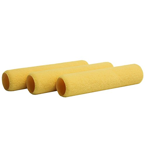 (Shur-Line 2006911 9-Inch One Coat Smooth Roller Cover, 3-Pack)