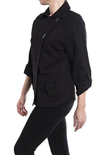 Joseph Ribkoff Black Double Breasted Jacket Style 174304 Size 12 by Joseph Ribkoff