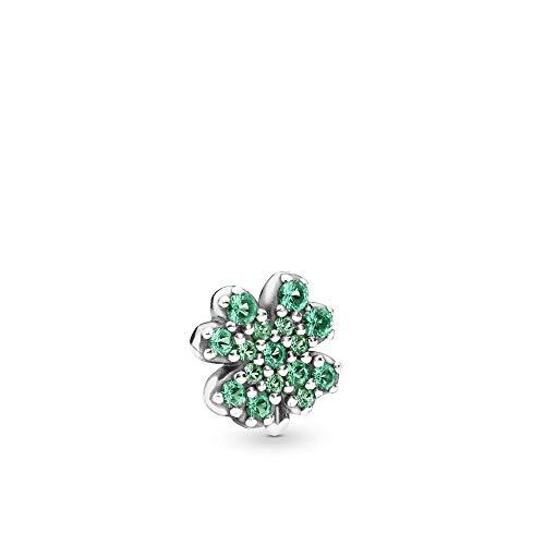 PANDORA Radiant Green Clover 925 Sterling Silver Petite - 797867NRG