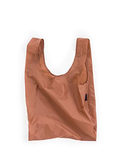 BAGGU Standard Reusable Shopping Bag, Eco-friendly Ripstop Nylon Foldable Grocery Tote, Terracotta