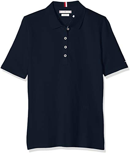 Tommy Hilfiger Damen Th Essential Reg Polo Ss Poloshirt
