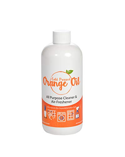 Premium Cold Pressed Orange Oil- 16 oz (D-Limonene), All Natural Cold Pressed Orange Oil
