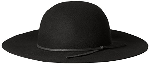 San Diego Hat Company Women's Floppy with Round Crown and Faux Suede Band, Black One Size (Cap Deluxe Skull)