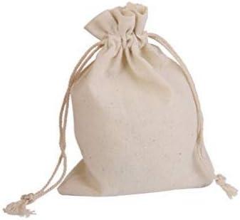 Eamooeahisshee - Bolsa de lona de algodón con cordón para boca (15 x 20 cm, 1 bolsa de lino y algodón): Amazon.es: Hogar