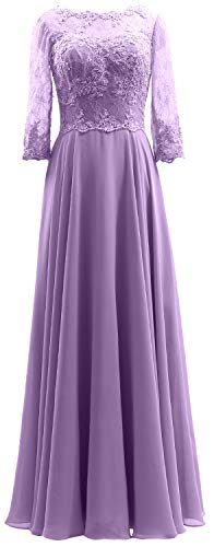 Lace Formal Of Macloth Gown Sleeves Lavender Maxi 3 Mother Women Bride Dress Evening 4 XqqwH6vI