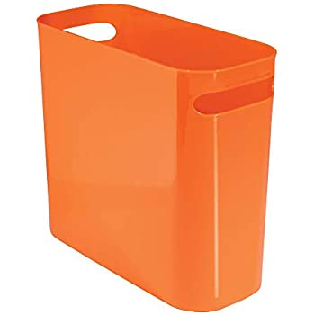 Amazon Com Idesign Una Rectangular Trash Can With Handles