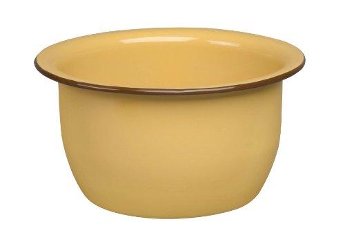 Cinsa 312051 Trend Ware Enamel on Steel Salad Bowl, 3-Quart, Vanilla Yellow