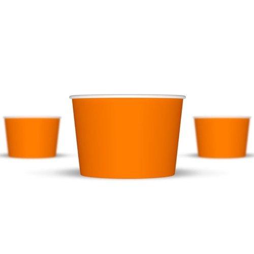 8 oz Paper Ice Cream Cups - 1,000 / Case (Orange) (Frozen Yogurt Paper Cups compare prices)