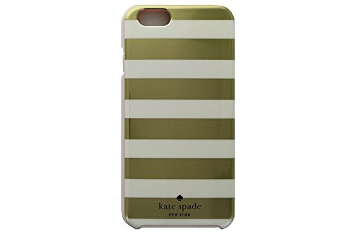 Kate Spade New York Gold Stripe Print Case for SMALLER iPhone 6 & 6S with 4.7 Screen [Does not fit Larger iPhone 6 Plus with the 5.5 screen] 840076146277