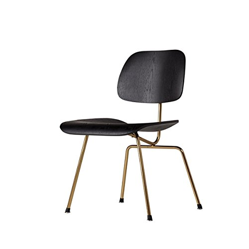 Helena Molded Plywood Dining Side Chair - Black/Gold