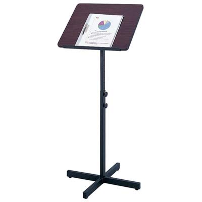 Safco Adjustable Speaker Stand - Mahogany