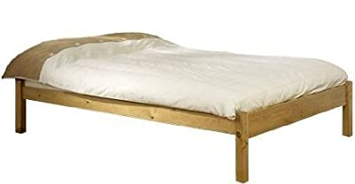 Kingsize Pine Bed 5ft (160cm) Studio Kingsize Bed Wooden Frame with extra wide base slats and centre rail - VERY STRONG by Strictlybedsandbunks
