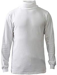 Men's 100% Interlock Knit Combed Cotton Super-Soft Euro Design Ski Casual Turtleneck Pullover