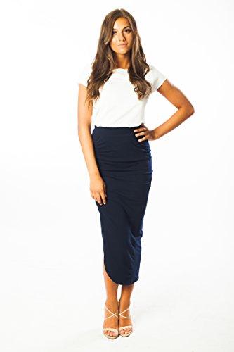 asymmetrical-skirt-by-ariana-james-cotton-lycra-high-waisted-side-slit-navy-l
