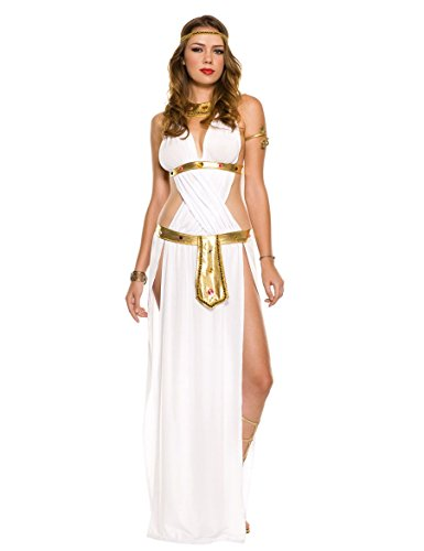 [PINSE Egyptian Roman Greek Goddess Halloween Sexy Goddess Costume] (Egyptian Soldier Costumes)