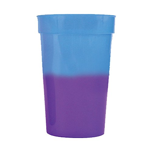 (12oz Color Changing Stadium Cup, Set of 12, Blue to Purple)