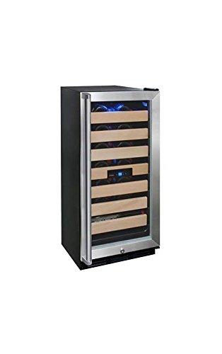 (Vinotemp VNTVT-26SB-ID 26-Bottle Wine Cooler with Interior Display)