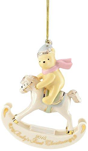 Lenox 2015 Disney's Winnie the Pooh Baby's 1st Christmas Ornament Baby's First Christmas Ornament Lenox