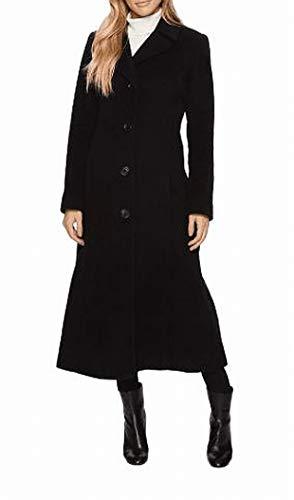 Anne Klein Women's Long 10% Notch Collar w/On Seam Pocket Black 4