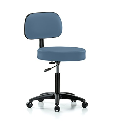 Perch Rolling Walter Exam Office Stool with Adjustable Backrest for Medical Dental Spa Salon Massage Lab or Workshop 21