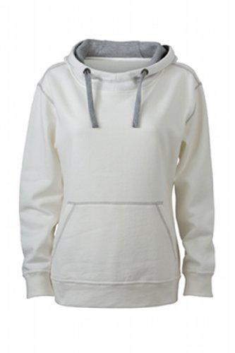 Nicholson Bianco Off heather Hoody Lifestyle white Felpa Kapuzensweatshirt Donna amp; Grey Ladies' James q5afag