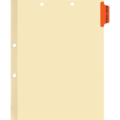 Medical Arts Press Match Colored Side Tab Chart Dividers- History/Physical, Position 1 (100/Pkg) ()