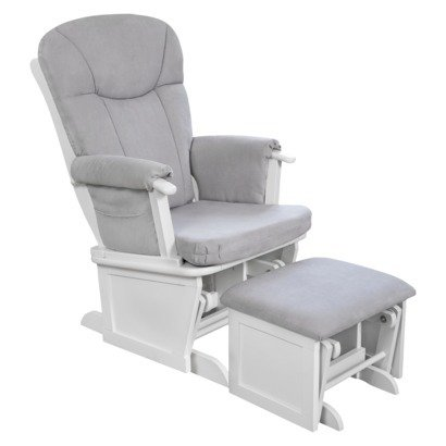 Eddie Bauer Langley Wood Glider and ottoman set WHITE