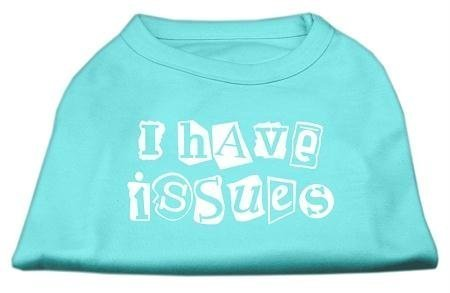 Mirage Pet Products 18-inch I Have Issues Screen Printed Dog Shirts, XX-Large, Aqua by Mirage Pet Products