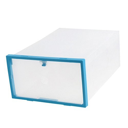Contenitore Della cassa eDealMax plastica PP FAI da te immagazzinaggio pieghevole cassetto Porta Scarpe Blue Box