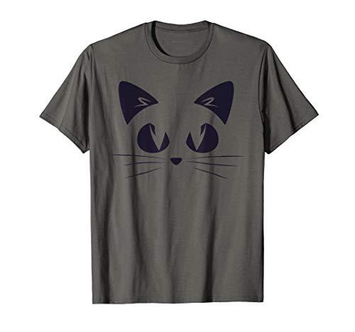 (Cute Cat Face TShirt Cool Kitten Casual Women Girl Cats Tee T-Shirt)