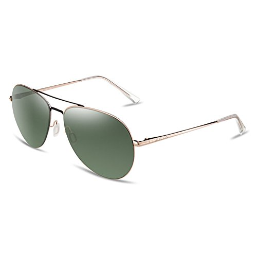 BOLON Womens HD Nylon Polarized GreenLens, Aviator Style Metal Golden - Bolon Sunglasses