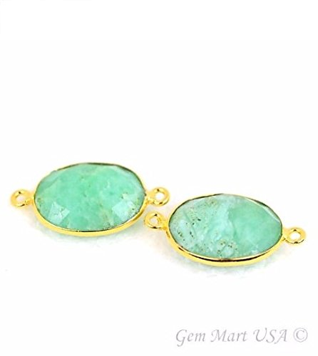Natural Chrysoprase, Bezel connector Ova - 24k Oval Pendant Shopping Results