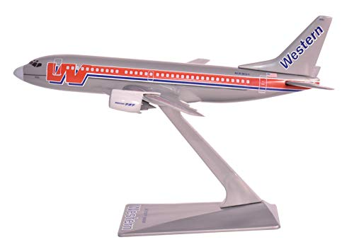 (Flight Miniatures Western Airlines Bare Metal Boeing 737-300 1:200 Scale Display Model with)
