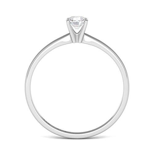 Diamond Studs Forever 14K White Gold Solitaire Engagement Ring (IGI USA Certified, GH/I3)
