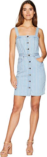 Couture Womens Dress (Juicy Couture Women's Denim Pinstripe Dress Blue Chill Washed 4)