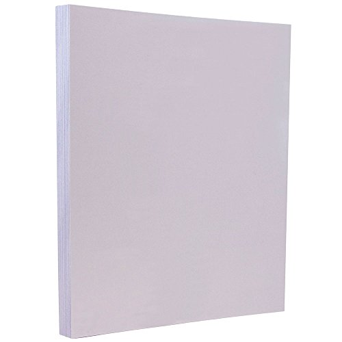 JAM PAPER Vellum Bristol 67lb Cardstock - 8.5 x 11 Coverstock - Orchid Light Purple - 50 Sheets/Pack