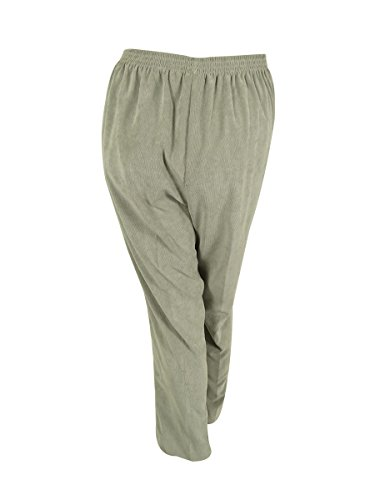 Alfred Dunner Plus Alpine Lodge Pull On Pants, Silver, 24W Short