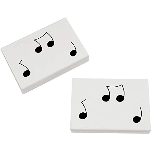 Azeeda 2 x 45mm 'Notes de Musique' gommes (ER00010387)