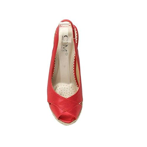 CM - Sandalias de vestir para mujer Rojo rojo for women