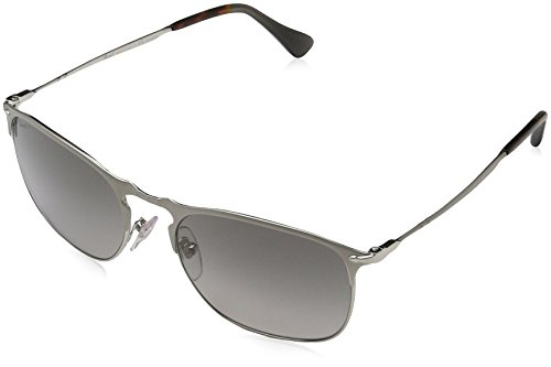 Persol Man Sunglasses, Silver Lenses Metal Frame, 55mm