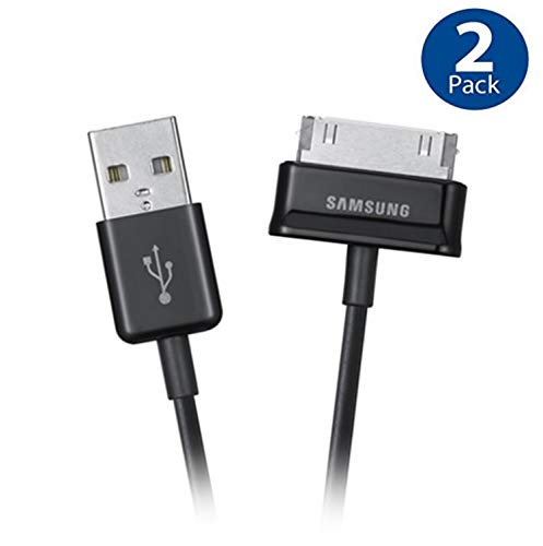 Original Samsung USB Charging Data Cable for Samsung Galaxy Note, Galaxy Tab 2 and Galaxy Tab Devices (ECC1DP0UBEG) - 2 Pack