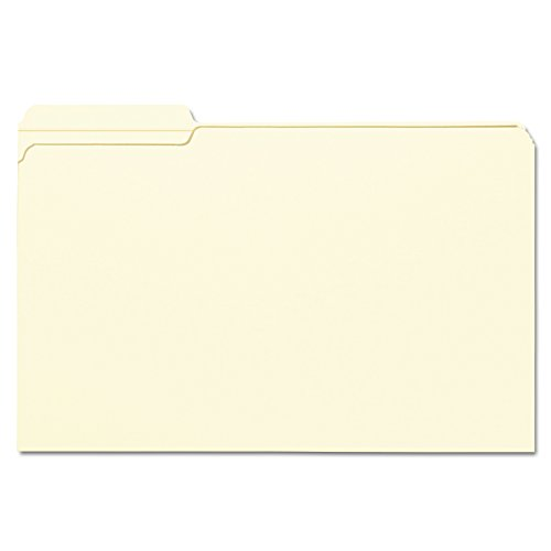 1st Position Manila File Folders (Smead File Folder, Reinforced 1/3-Cut Tab Left Position, Legal Size, Manila, 100 Per Box (15335))