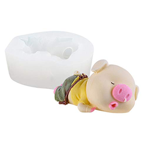 aliveGOT 3D Pig Silicone Candy Chocolate Fondant Candle Baking Mold Decorating DIY Cake -