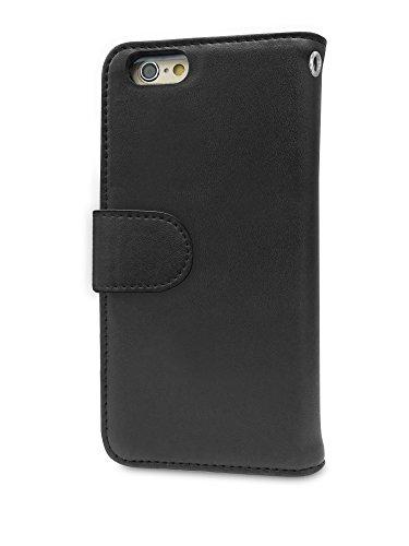 "Melkco Mini PU Case for Apple iPhone 6s Plus / 6 (5.5"") - Wallet Book Type (Black PU)"