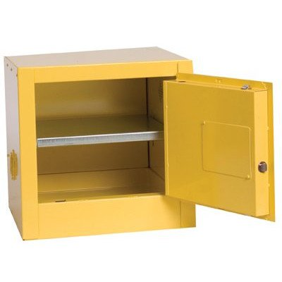17.25'' H x 17.5'' W x 18'' D 2 Gal. Bench Top Flammable Liquid Safety Cabinet