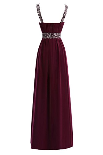 A Long Women Bridal with Dresses Prom Red Line Evening Scoop Straps Bess s wUIxYwq