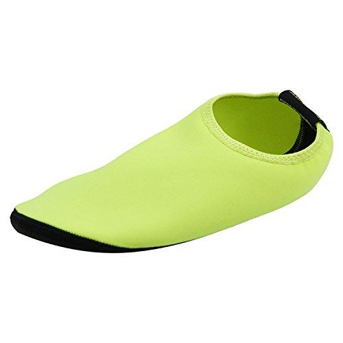 Startseite Slipper Barfuß Wasser Haut Schuhe Aqua Neopren Socken für Strand Pool Sand Swim Surf Yoga Schnorcheln 002 Gelb & Schwarz